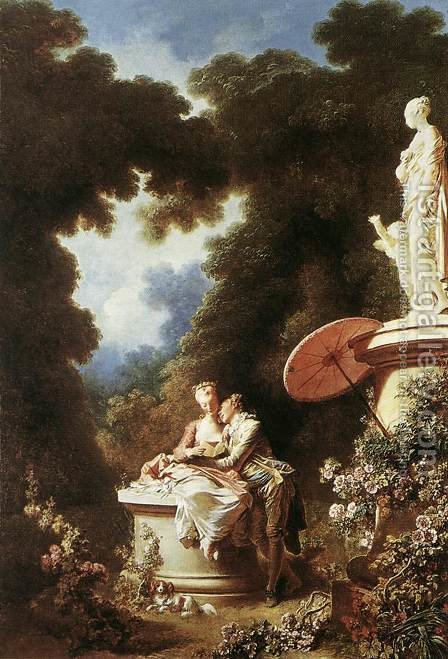 Jean-Honore Fragonard: The Confession of Love 1771 - reproduction oil painting