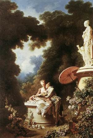 Reproduction oil paintings - Jean-Honore Fragonard - The Confession of Love 1771