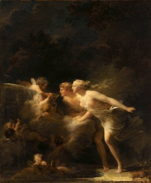 Reproduction oil paintings - Jean-Honore Fragonard - The Fountain of Love 1785