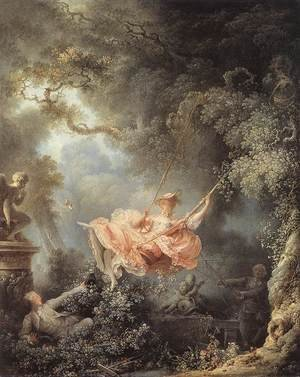 Reproduction oil paintings - Jean-Honore Fragonard - The Swing 1767