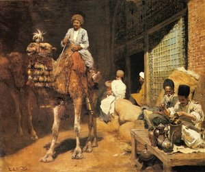 Famous paintings of Camels: A Marketplace In Ispahan