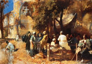 Famous paintings of Markets: A Persian Cafe