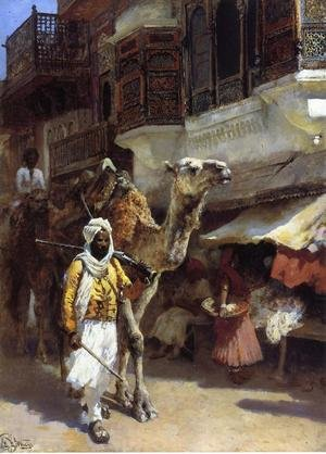 Famous paintings of Camels: Man Leading A Camel