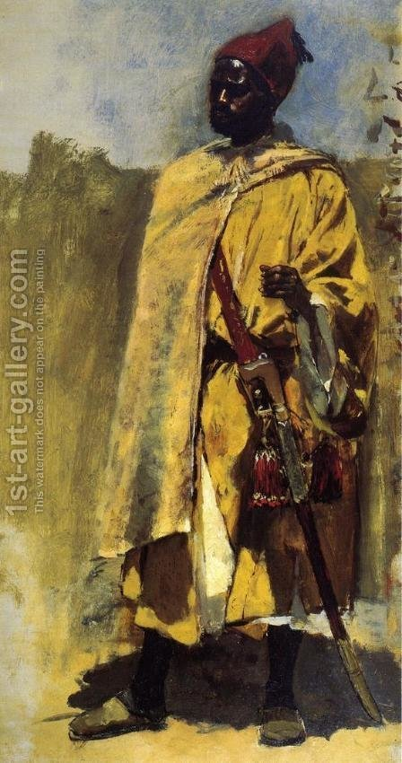 Edwin Lord Weeks: Moorish Guard - reproduction oil painting