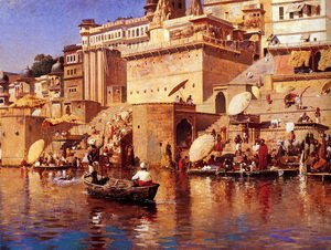 Famous paintings of Nautical: On The River Benares