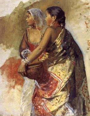 Academic Classicism painting reproductions: Sketch   Two Nautch Girls
