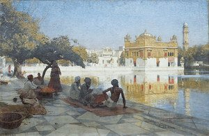 Academic Classicism painting reproductions: The Golden Temple  Amritsar
