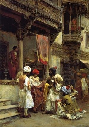 Famous paintings of Markets: The Silk Merchants
