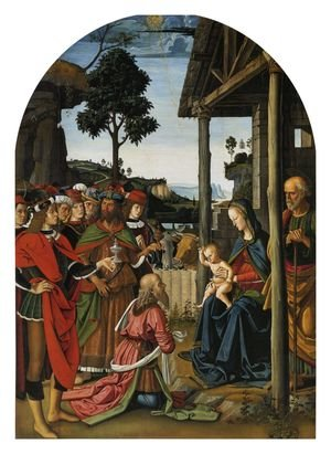 Reproduction oil paintings - Pietro Vannucci Perugino - Adoration of the Kings (Epiphany) c. 1476