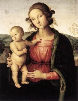 Reproduction oil paintings - Pietro Vannucci Perugino - Madonna and Child