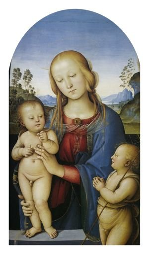 Reproduction oil paintings - Pietro Vannucci Perugino - Madonna with Child and Little St John 1505-10