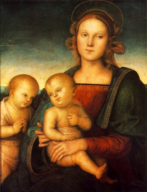 Reproduction oil paintings - Pietro Vannucci Perugino - Madonna with Child and Little St John 1497