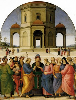 Reproduction oil paintings - Pietro Vannucci Perugino - Marriage Of The Virgin