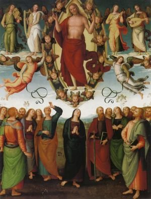 Reproduction oil paintings - Pietro Vannucci Perugino - The Ascension of Christ 1496-98