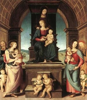 Reproduction oil paintings - Pietro Vannucci Perugino - The Family of the Madonna 1500-02
