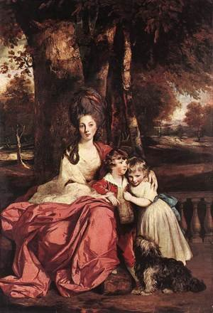 Reproduction oil paintings - Sir Joshua Reynolds - Lady Elizabeth Delme and her Children 1777-80