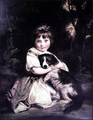 Sir Joshua Reynolds reproductions - Love Me  Love My Dog