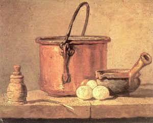 Still Life With Copper Cauldron And Eggs