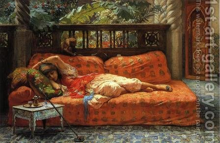 The Siesta by Frederick Arthur Bridgman - Reproduction Oil Painting