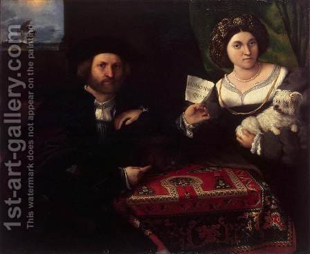 Husband and Wife 1523 by Lorenzo Lotto - Reproduction Oil Painting