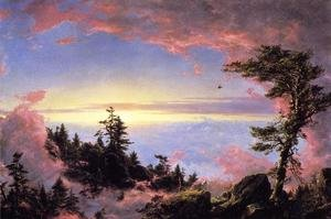 Famous paintings of Clouds & Skyscapes: Above The Clouds At Sunrise