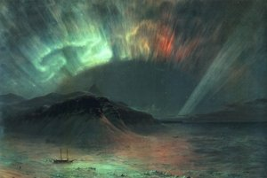 Famous paintings of Ships & Boats: Aurora Borealis