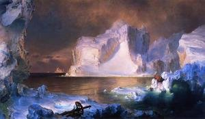 Famous paintings of Nautical: The Icebergs
