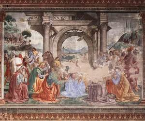 Reproduction oil paintings - Domenico Ghirlandaio - Adoration Of The Magi