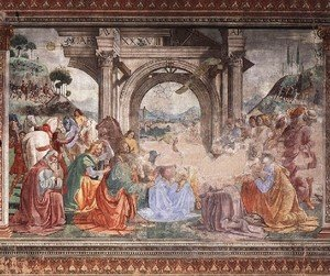 Reproduction oil paintings - Domenico Ghirlandaio - Adoration Of The Magi2