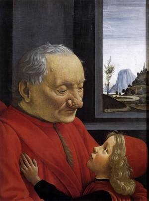 Domenico Ghirlandaio reproductions - An Old Man and His Grandson c. 1490