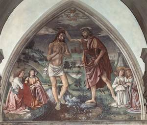 Reproduction oil paintings - Domenico Ghirlandaio - Baptism of Christ  c.1473