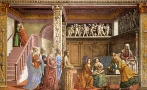 Reproduction oil paintings - Domenico Ghirlandaio - Birth Of Mary