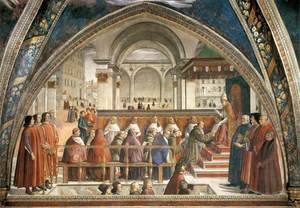 Reproduction oil paintings - Domenico Ghirlandaio - Confirmation of the Rule 1482-85