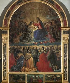 Reproduction oil paintings - Domenico Ghirlandaio - Coronation of the Virgin 1486 2