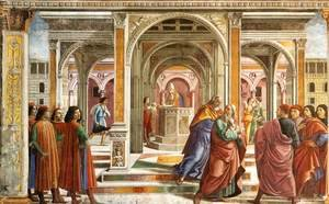 Reproduction oil paintings - Domenico Ghirlandaio - Expulsion Of Joachim From The Temple