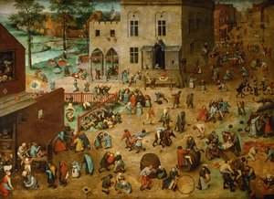 Renaissance - Northern painting reproductions: Children's Games 1559-60