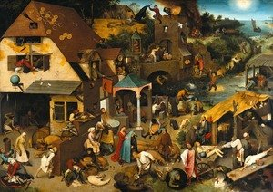 Renaissance - Northern painting reproductions: Netherlandish Proverbs 1559