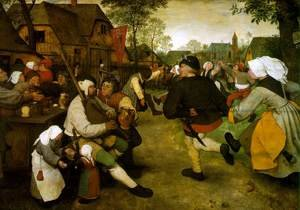 Renaissance - Northern painting reproductions: The Peasant Dance 1568