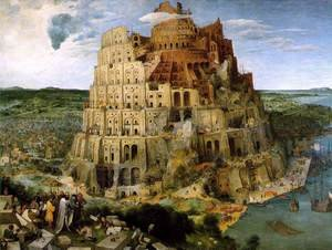 Famous paintings of Religion & Philosophy: The Tower of Babel 1563