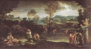 Reproduction oil paintings - Annibale Carracci - Fishing before 1595