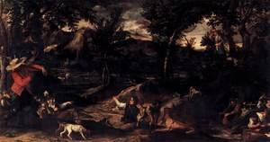 Reproduction oil paintings - Annibale Carracci - Hunting 1595