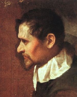 Reproduction oil paintings - Annibale Carracci - Self-Portrait in Profile 1590s