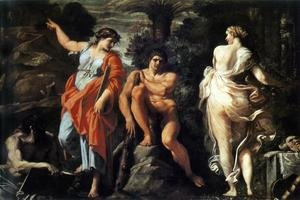 Reproduction oil paintings - Annibale Carracci - The Choice of Heracles c. 1596