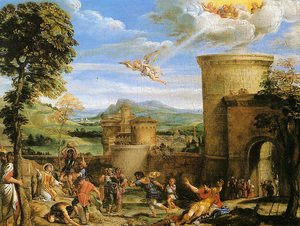 Reproduction oil paintings - Annibale Carracci - The Martyrdom of St Stephen 1603-04