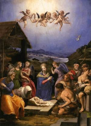 Mannerism painting reproductions: Adoration of the Shepherds 1535-40