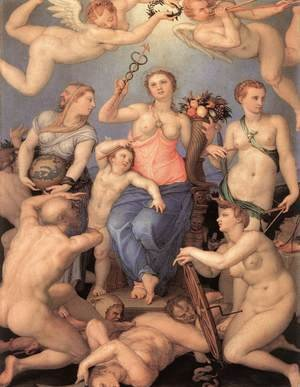 Mannerism painting reproductions: Allegory of Happiness 1564