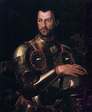 Mannerism painting reproductions: Cosimo I de' Medici in Armour 1545