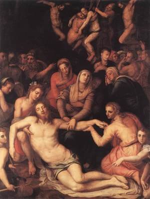 Mannerism painting reproductions: Deposition 1565