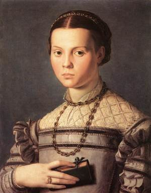 Mannerism painting reproductions: Portrait of a Young Girl 1541-45