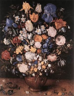 Bouquet in a Clay Vase 1599-1607